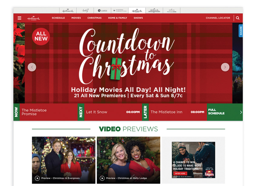 Crown Media  Hallmark Channel's Countdown to Christmas