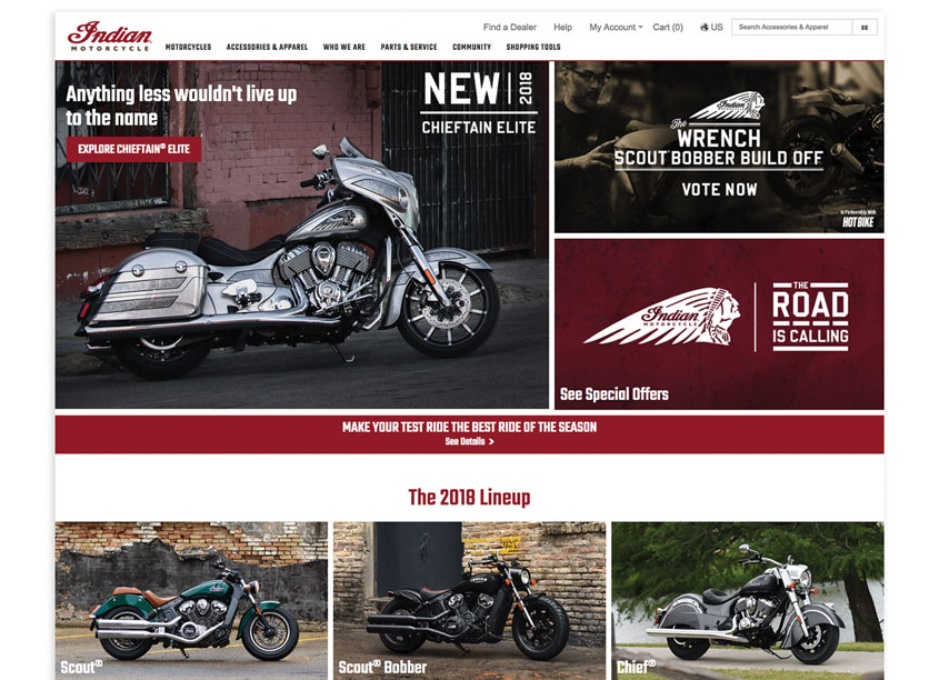 Polaris Industries  Indian Motorcycle Home Page