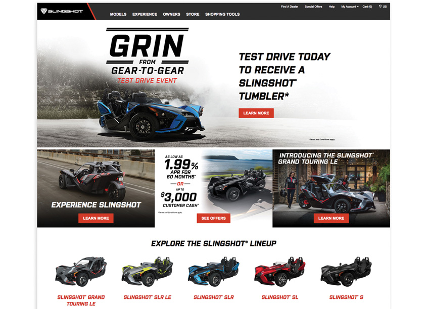 Polaris Industries  Slingshot Home Page