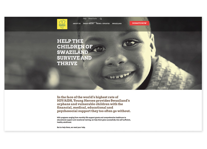 G Design+Communications  Young Heroes Website