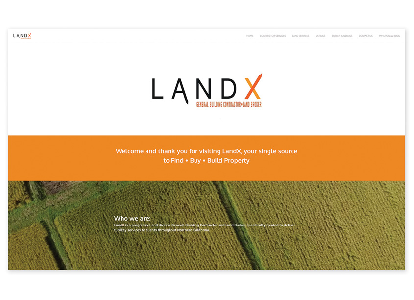 MiDESign & Marketing Consultancy  LandX Inc. Website