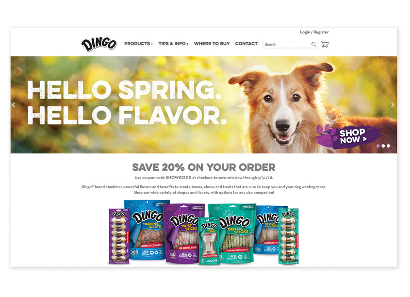 Spectrum Brands - Pet, Home & Garden Division  Dingo® Website