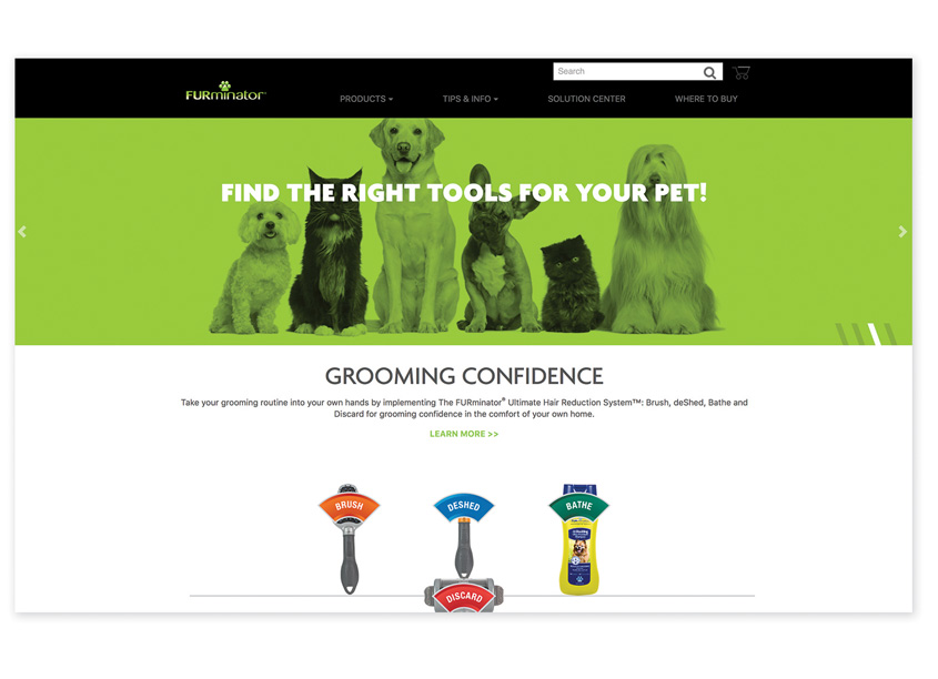 Spectrum Brands - Pet, Home & Garden Division  FURminator® Website