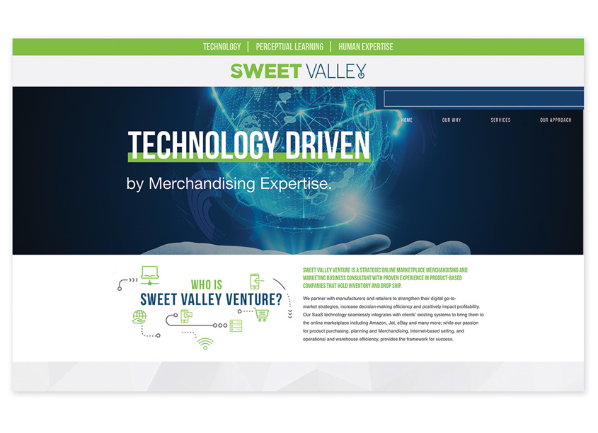 Paradigm Marketing and Design  Sweet Valley Venture Website