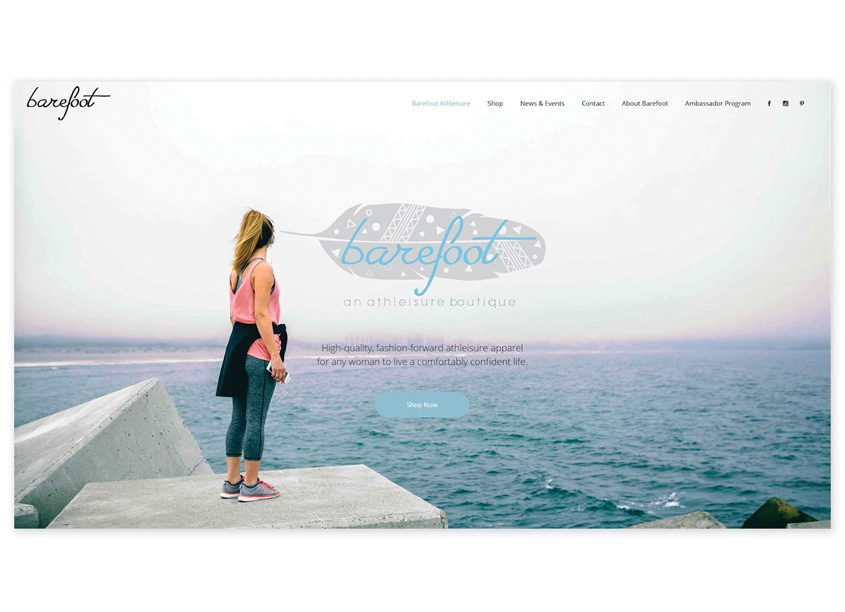 Tortuga Creative Services, LLC  Barefoot Athleisure Website