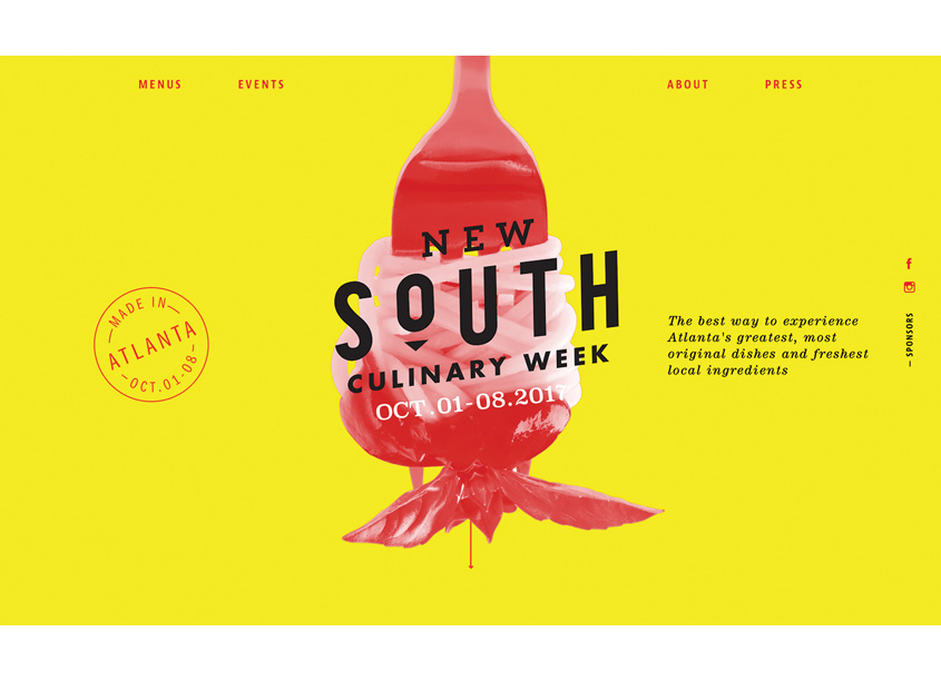 Phase 3 Marketing & Communications  New South Culinary Week Website