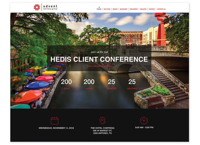 The Walker Group  HEDIS Client Conference Landing Page