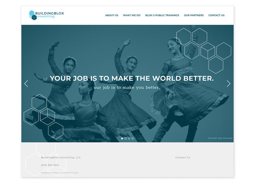 Canary, A Gould Evans Studio  BuildingBlox Consulting Website Redesign