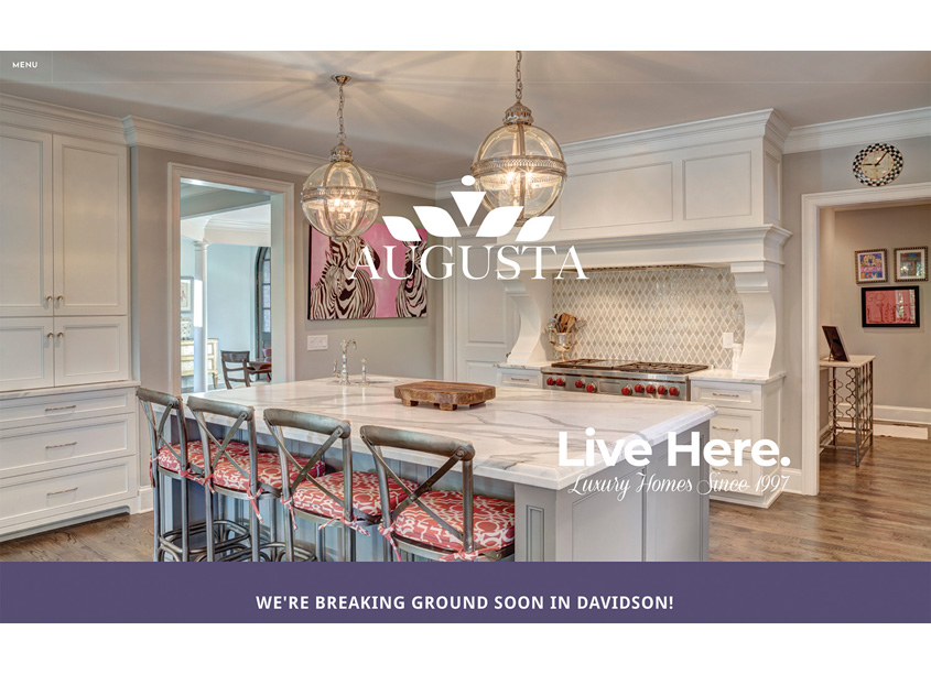 Metropolis Branding  Augusta Homes Website