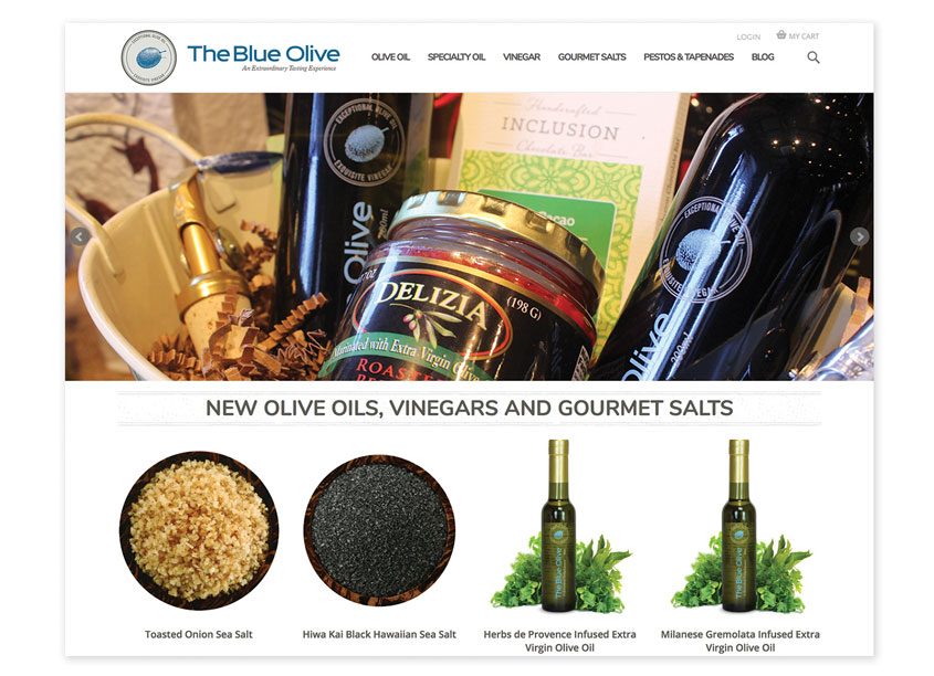Creating Digital  The Blue Olive Shop eCommerce Site