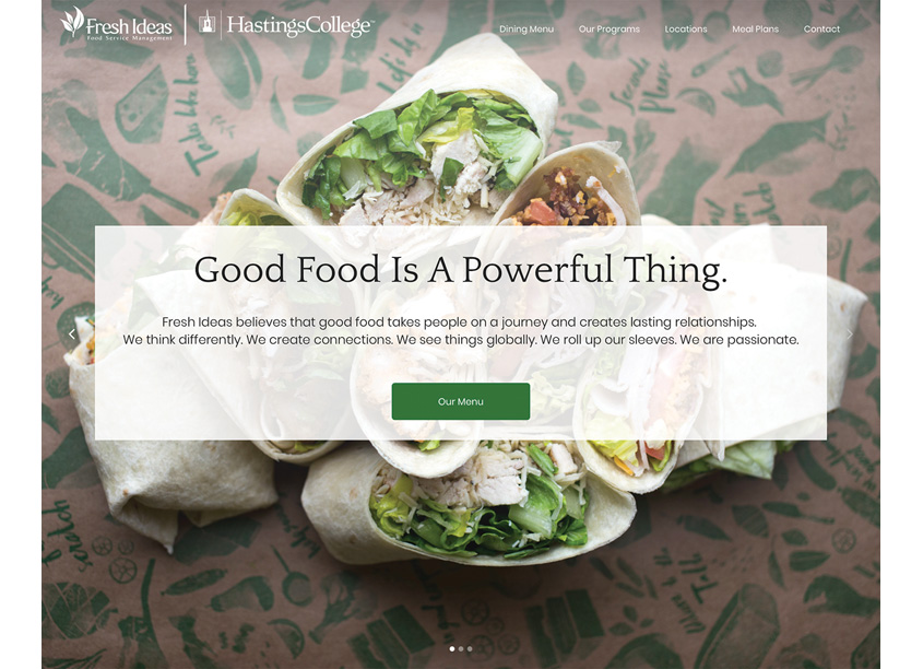 Fresh Ideas  Dining Services Customized Websites