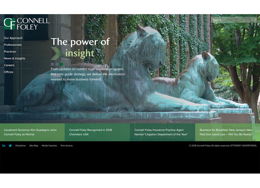 Firmseek  Connell Foley Law Firm Website