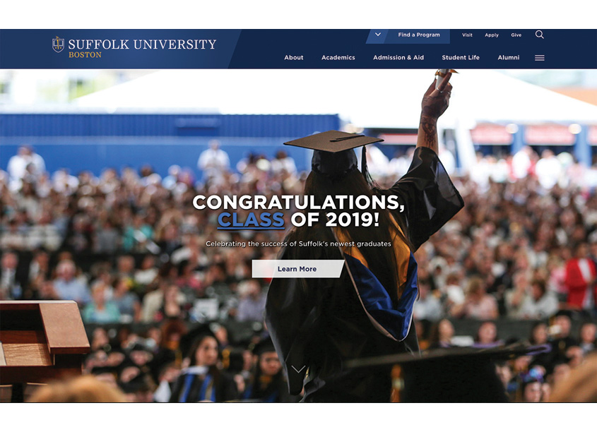 Suffolk University Website by Suffolk University
