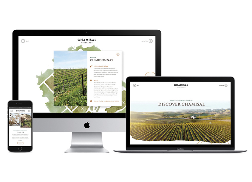 Chamisal Vineyards Website by Affinity Creative Group