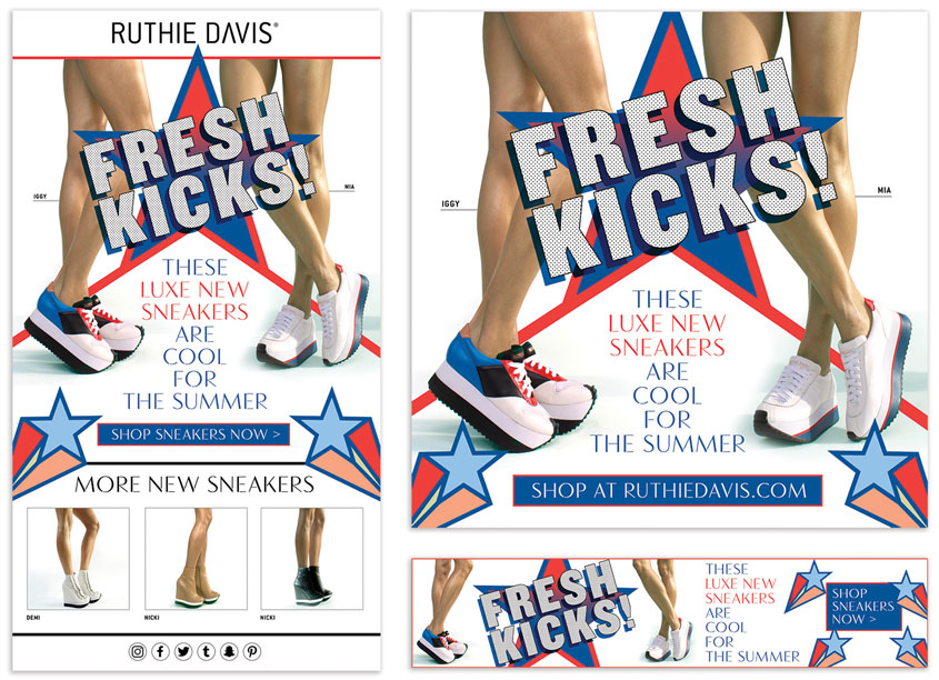 Fresh Kicks Online Advertising Campaign by 80east Design