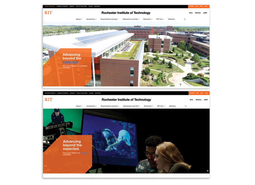 RIT Website Design by Behavior Design