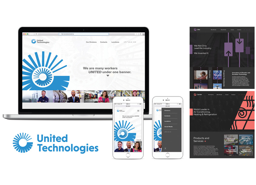 United Technologies Website Redesign Project by Auburn University School of Industrial + Graphic Design