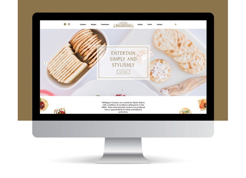 QNY Creative Wellington Crackers Website