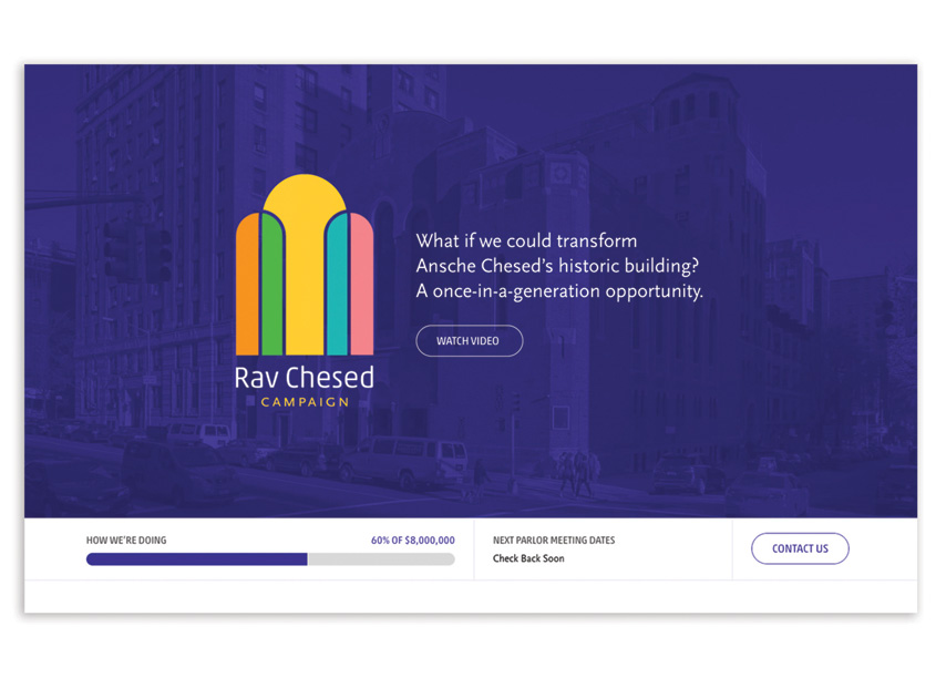 KUDOS Design Collaboratory Rav Chesed Campaign