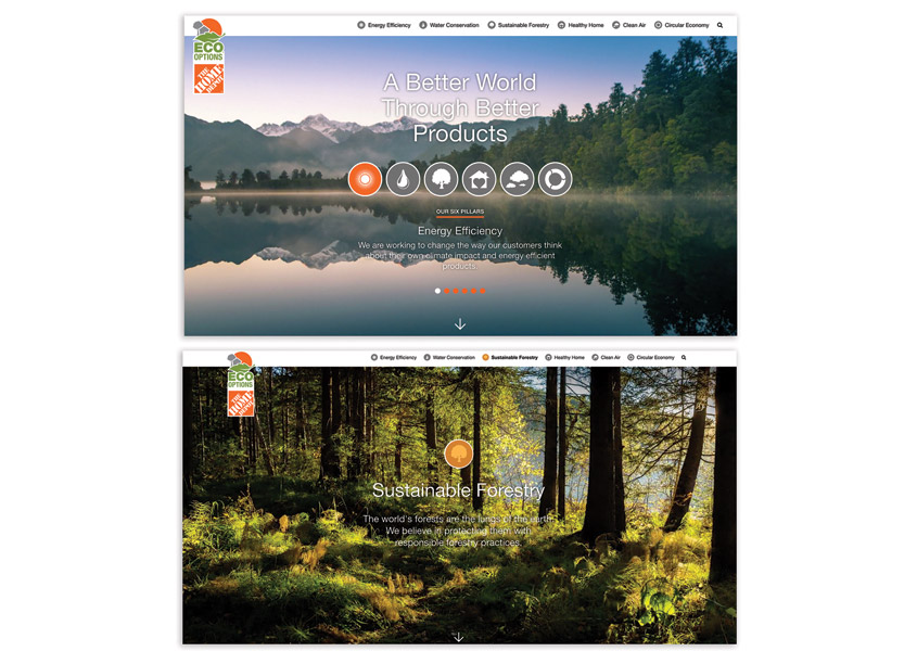 Porchlight The Home Depot Eco Options Website Redesign