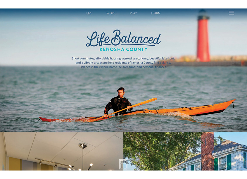 Life Balanced Kenosha Talent Attraction Website by Equity Creative