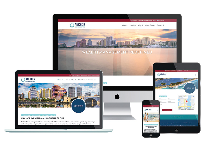 Anchor Wealth Management Group Website by DMI Marketing, Inc.