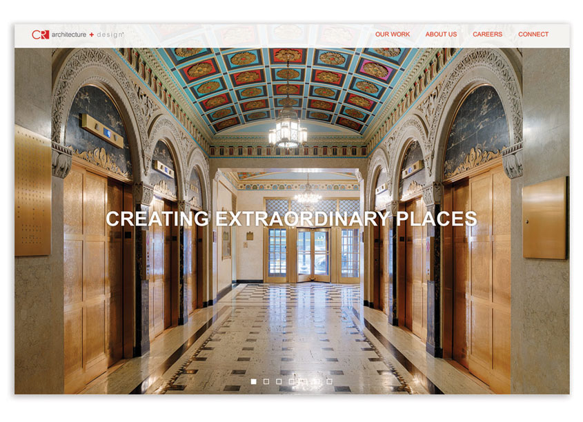 C+R Architecture and Design Website Redesign by Equity Creative