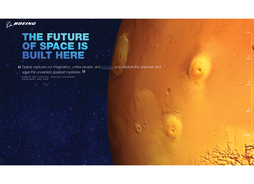 Boeing/Creative Services 3, 2, 1. Mars Is Calling