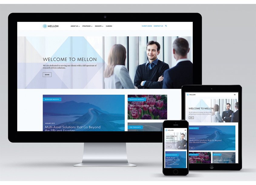 Mellon Corporate Website by BNY Mellon AMT Creative Design Services