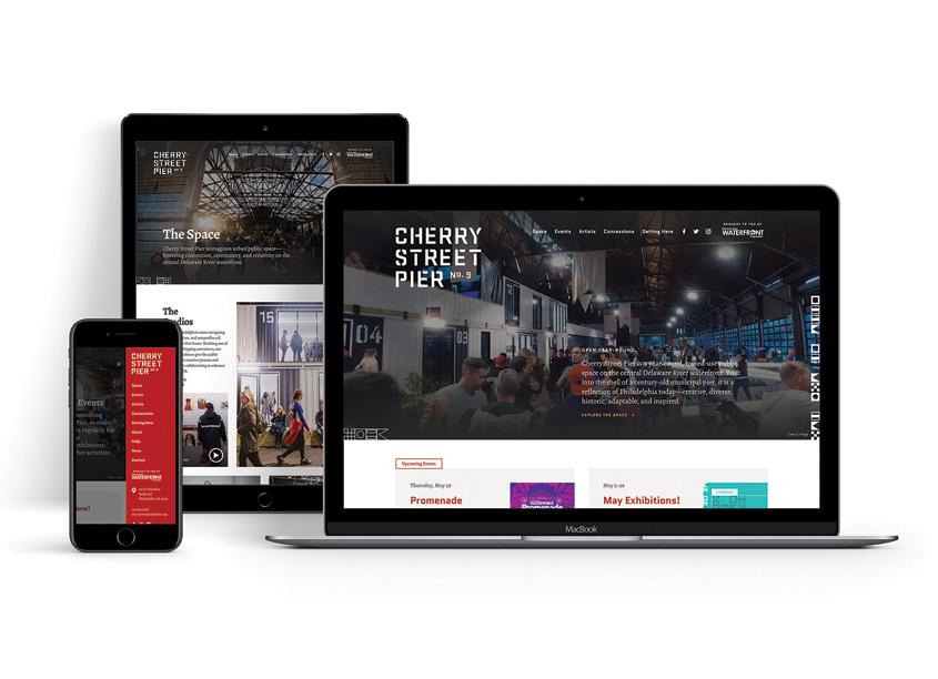 Cherry Street Pier Website by Roni Lagin & Co.