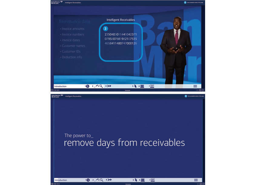 Intelligent Receivables Site by Bank of America