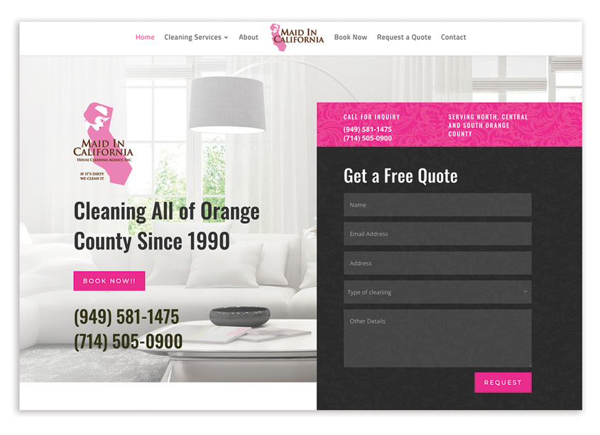 Creatovision Design Group Maid In California Website