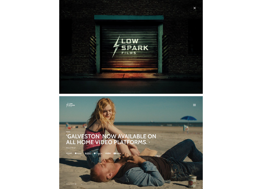 Low Spark Films Website by Blackbird Digital