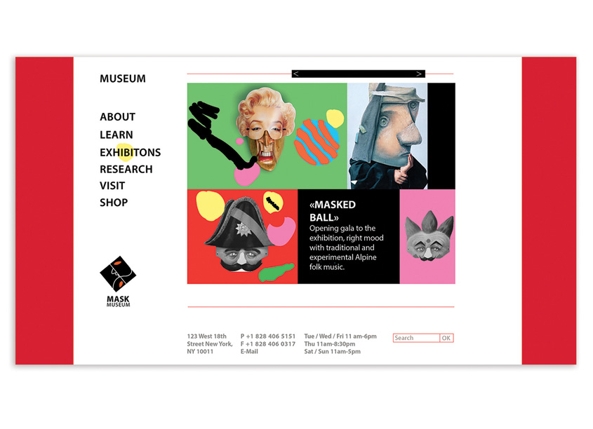 Xinran Liu Mask Museum Website Design
