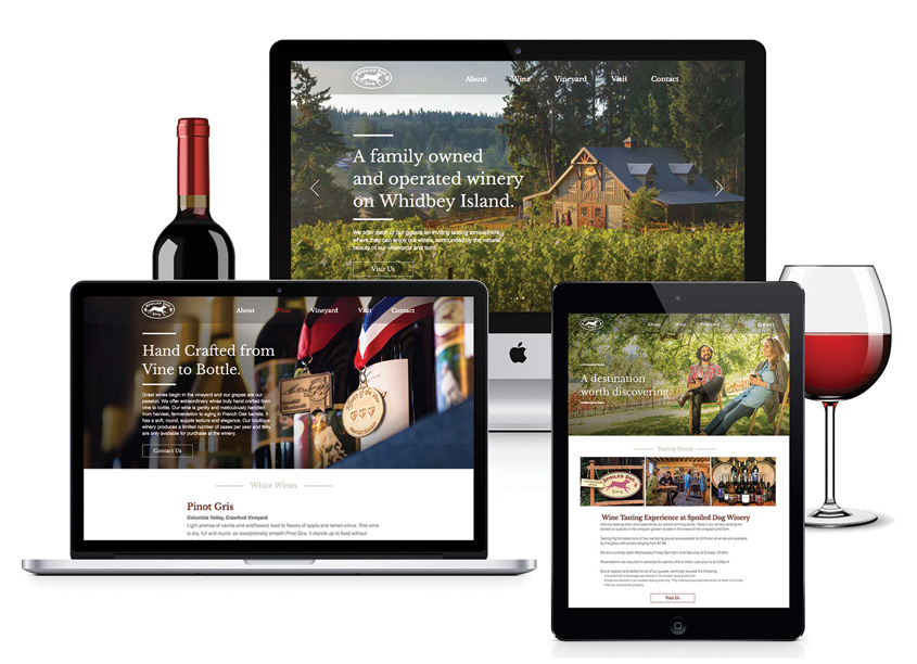 Spoiled Dog Winery Website by Jensen Creative Studio