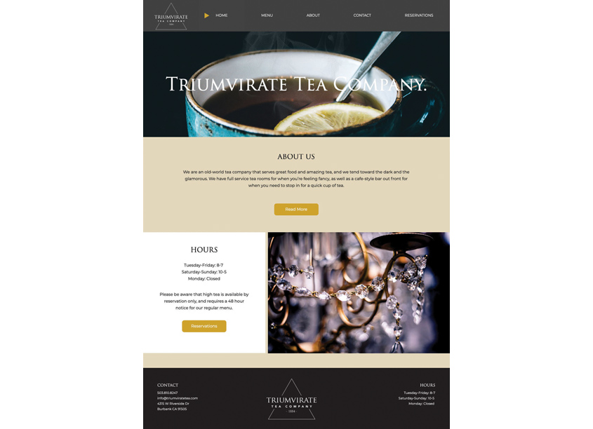 Triumvirate Tea Company by Woodbury University