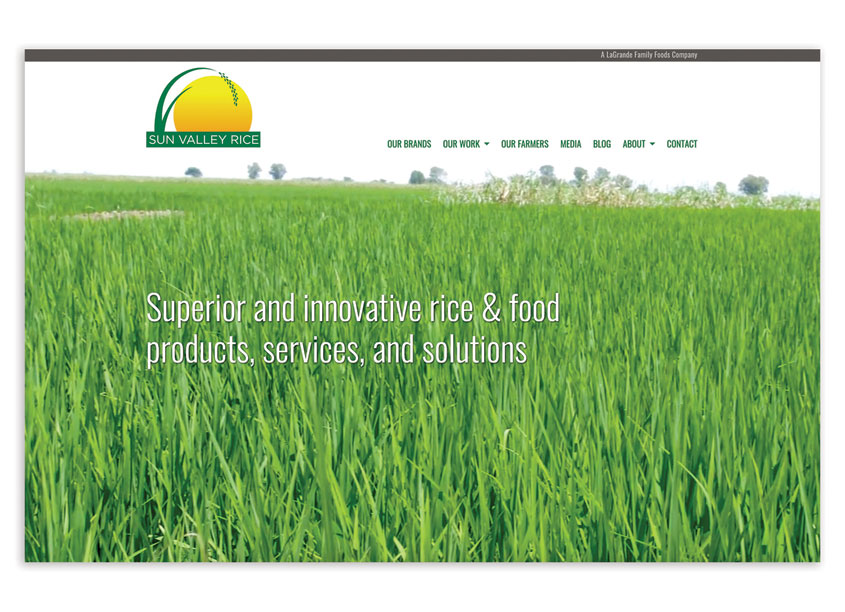 Sun Valley Rice Website by David Kerr Design, Inc.