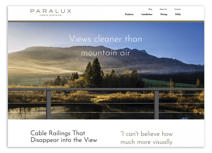 Paralux Cable Website Design by Rowland Creative