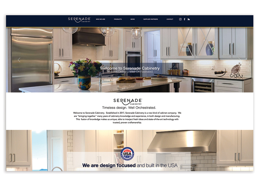 Serenade Cabinetry Website Brand Build by Dead Horse Branding