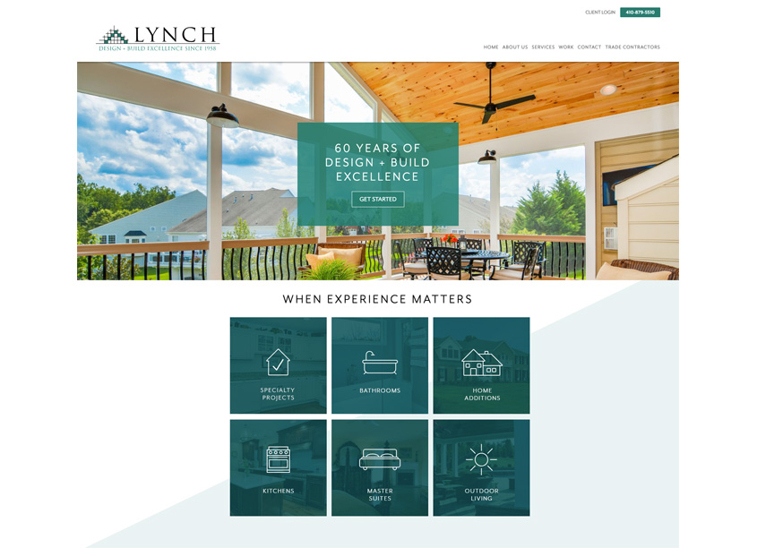Main St. Design Lynch Design & Build Website