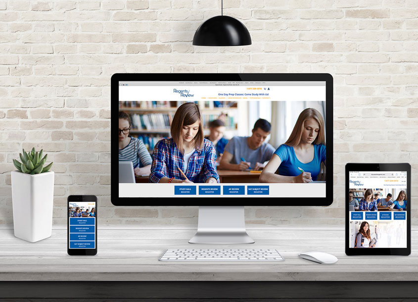 Regents Review Website Design by Jarrod Michael Studios
