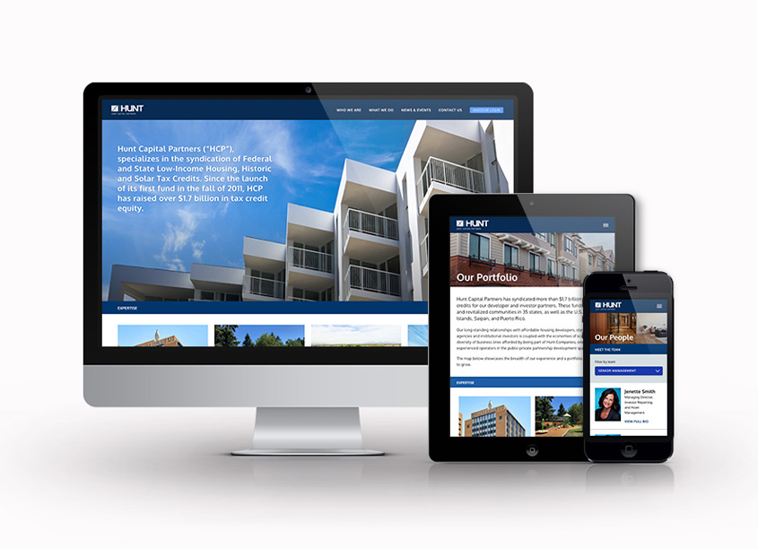 Hunt Capital Partners Website Design by Decker Design