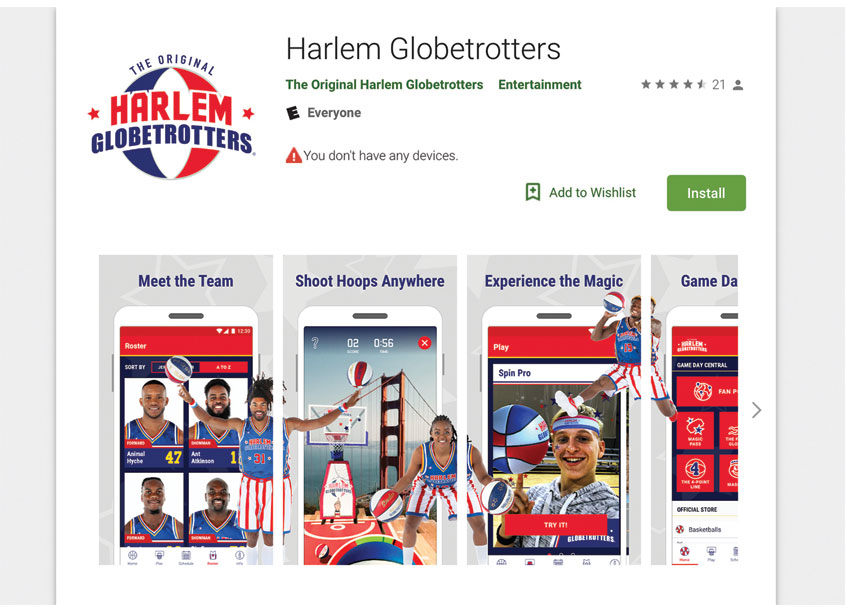 The Official Globetrotters App by DMI