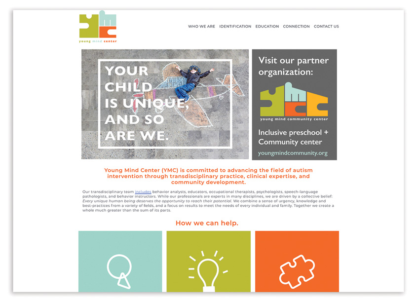 Young Mind Center Website Redesign by Canary, a Gould Evans Studio