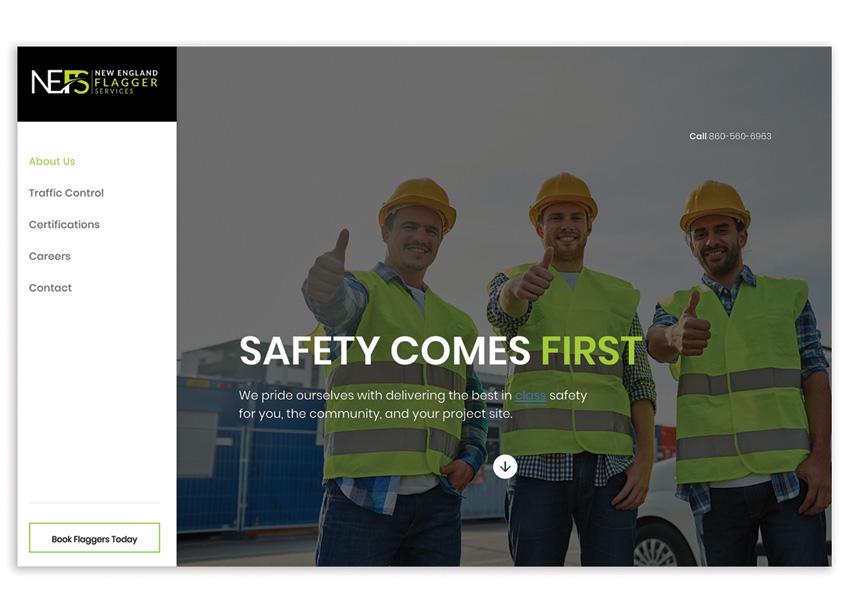 The Walker Group New England Flagger Services Website