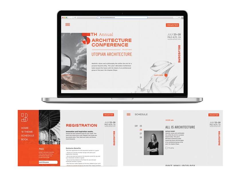 Belvedere Architecture Festival Website Prototype by Auburn University School of Industrial + Graphic Design