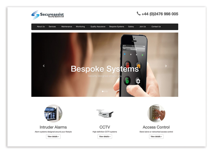 SecurAssist Website by Miles Technologies