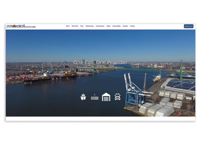 Holt Logistics Website by Miles Technologies