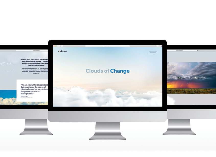 Clouds of Change Website by c|change