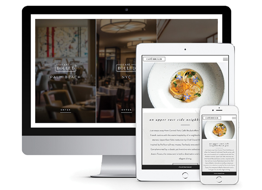 Café Boulud Restaurants Website by Creating Digital